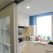 现代厨房飘窗整体图