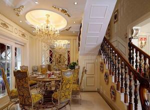 400㎡美式风格别墅楼梯设计装修效果图