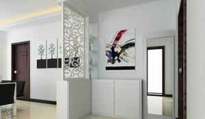 单身公寓美式客厅进门玄关隔断装修效果图