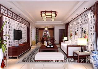 120㎡大户型中式客厅吊顶灯效果图