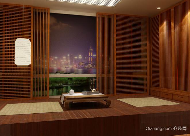 室内餐厅日式风格装修效果图
