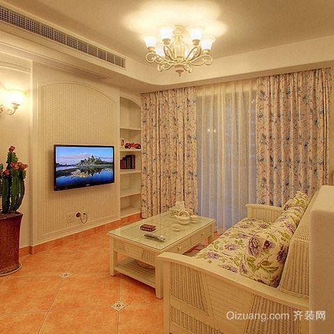 大户型三室二厅欧式客厅吊顶装修效果图