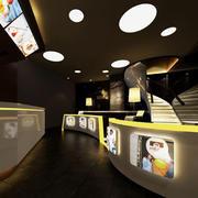 奶茶店设计灯光设计