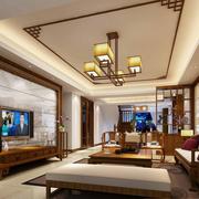 中式客厅整体图
