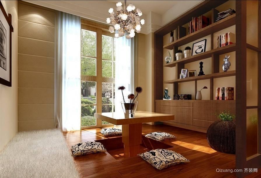 100平米房屋现代简约书房兼榻榻米装修效果图