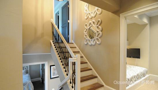 简约欧式风格楼梯设计装修效果图