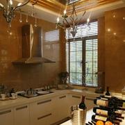 暖色调厨房设计图
