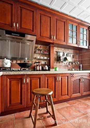 美式田园风格厨房装修设计效果图