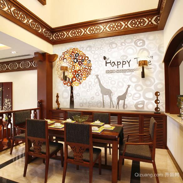 120平米大户型北欧风格客厅电视背景墙装修效果图
