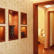 暖色调背景墙造型图