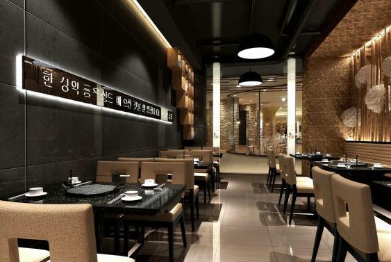 100平米 韩式烧烤店 装修效果图 齐装网装修效果