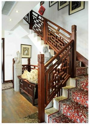中式楼梯装修效果图