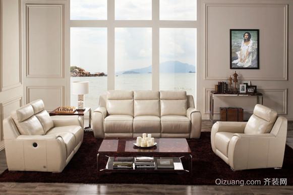 欧式风格客厅芝华士沙发装修效果图