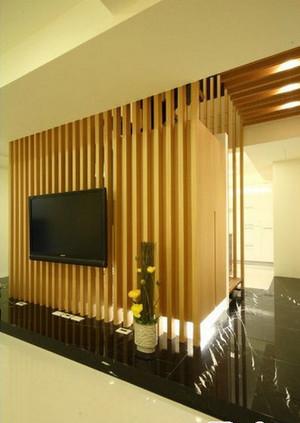 日式电视背景墙效果图