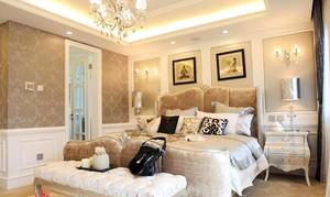 70平米新古典小卧室背景墙装修效果图