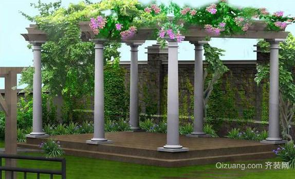 2015自然雅致别墅公寓屋顶花园效果图
