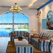 地中海客厅设计图