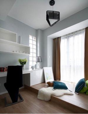 时尚美观实用卧室书房以及客厅地台装修效果图