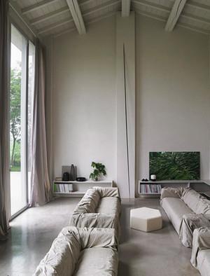 单身公寓欧式客厅隔音窗帘装修效果图