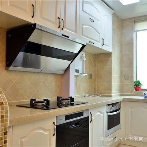 大户型混搭风格厨房整体橱柜装修效果图