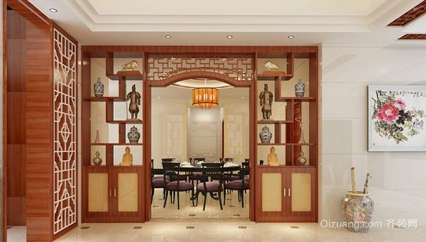 现代简约风格客厅博古架装修效果图