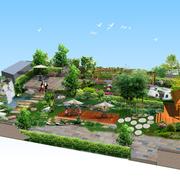 唯美的花园设计模板