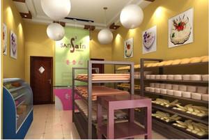 温馨蛋糕店展示柜