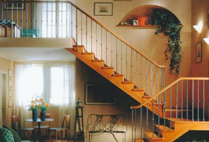 雅致田园风格楼梯设计装修效果图