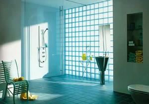 2015现代精致的玻璃砖隔墙及浴室效果图
