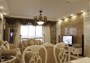 美式风格客厅石材背景墙装修效果图