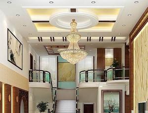 120平米大户型三室二厅欧式客厅吊顶装修效果图