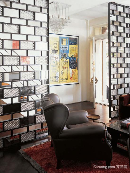 古典屏风设计客厅隔断装修风格效果图