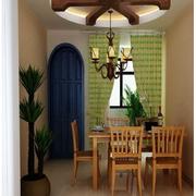 餐厅设计窗帘图