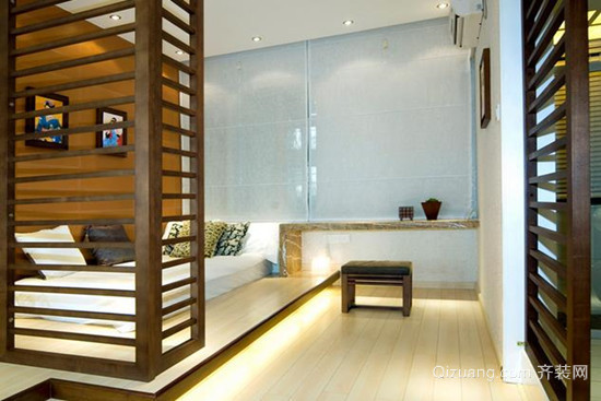 100平米日式卧室榻榻米背景墙装修效果图