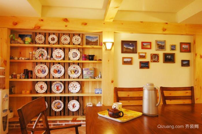 田园风格餐厅照片墙效果图