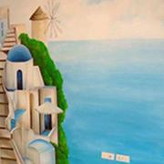 墙绘素材设计实景图