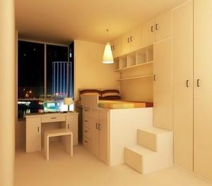 小户型单身公寓交换空间装修效果图