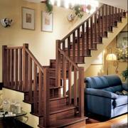 实木楼梯设计整体图
