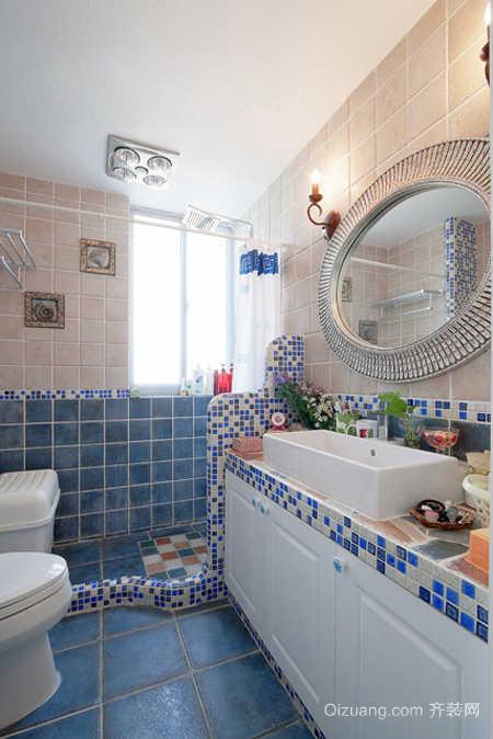美式地中海混搭风格单身汉公寓装修样板房