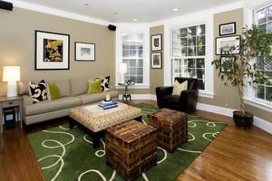 小户型田园风格沙发背景墙效果图