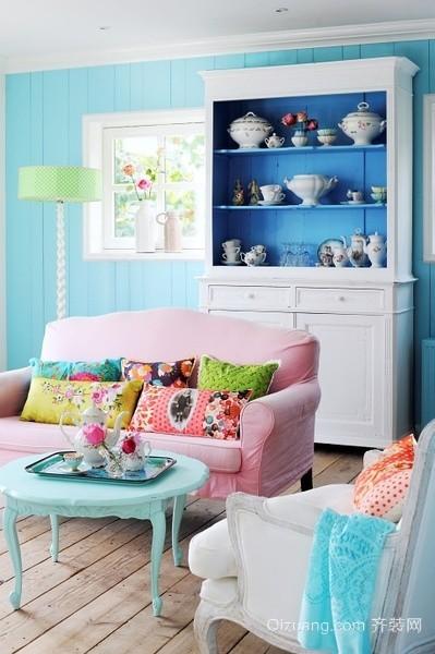40平地中海风格女生卧室装修效果图
