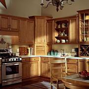 实木橱柜设计现代图