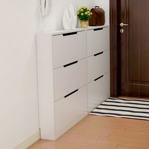 简单实用的欧式进门玄关鞋柜效果图