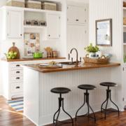 精致的现代厨房橱柜图