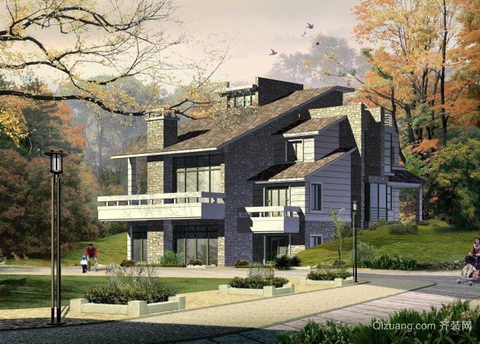 城市郊区别墅设计图纸及效果图大全
