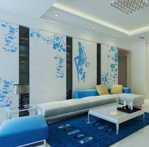 大户型客厅地中海风格沙发背景墙效果图
