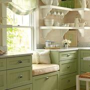 实木橱柜设计飘窗图