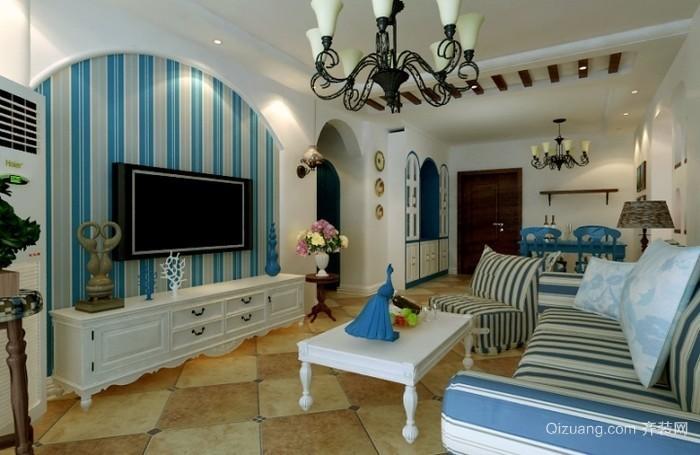 欧式客厅地中海风格白色茶几图片精选
