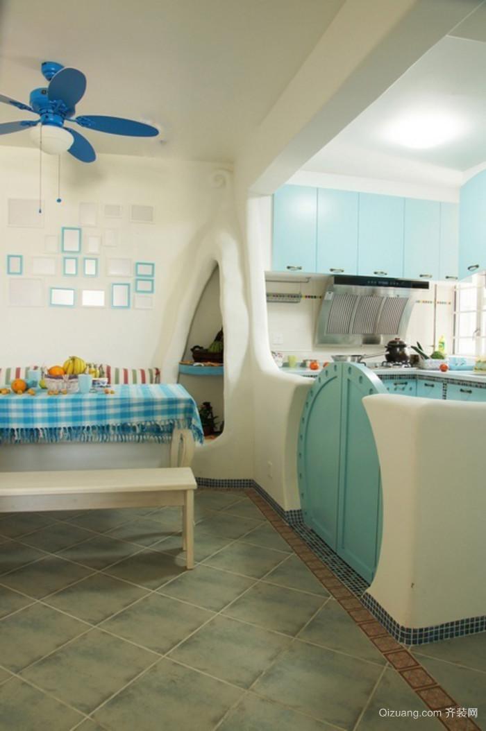 30平小户型地中海风格厨房装修效果图