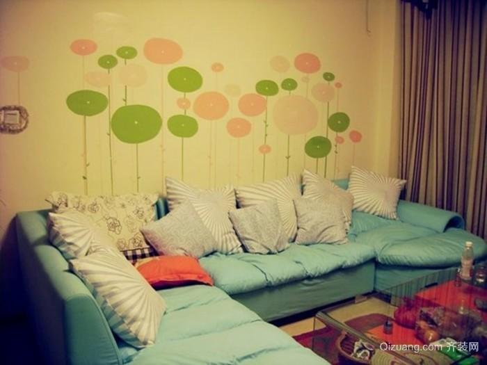 25平米小女生卧室墙绘素材